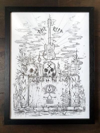 10th Anniversary Print - framed